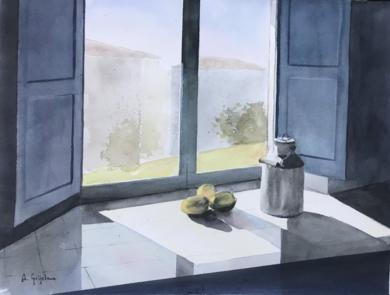 Sombras en la ventana|PinturadeChela Grijelmo| Compra arte en Flecha.es