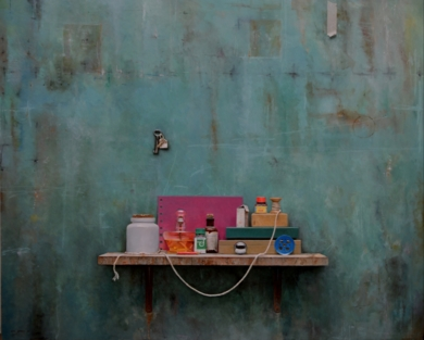 Rueda Azul   II|PinturadeLUIS    GOMEZ    MACPHERSON| Compra arte en Flecha.es