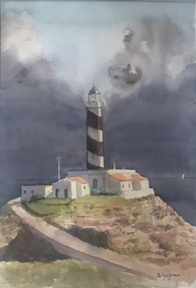 Tormenta en Cap de Cala Figuera|PinturadeChela Grijelmo| Compra arte en Flecha.es