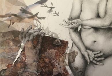 Mixtura de cuerpos II|CollagedeAle Feijó| Compra arte en Flecha.es