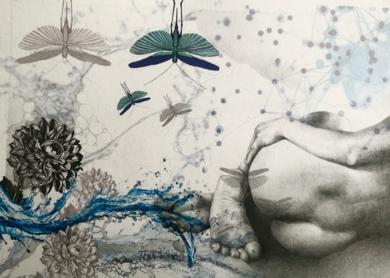 Mixtura de cuerpos III|CollagedeAle Feijó| Compra arte en Flecha.es