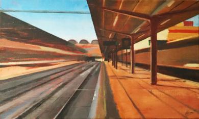 Chamartín (Rojo)|PinturadeAdriana Berges| Compra arte en Flecha.es