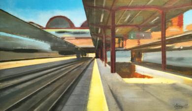 Chamartín (Amarillo)|PinturadeAdriana Berges| Compra arte en Flecha.es