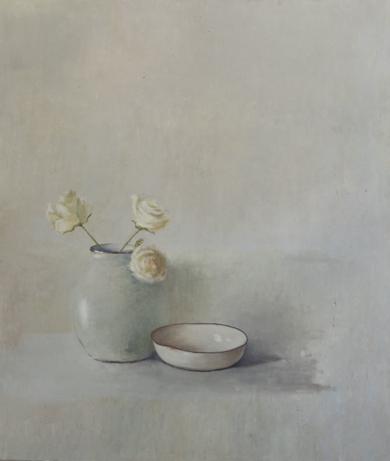 Jarrón con rosas blanca|Pinturademarta gomez de la serna| Compra arte en Flecha.es