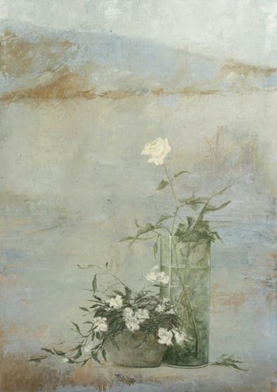 Flores blancas|Pinturademarta gomez de la serna| Compra arte en Flecha.es