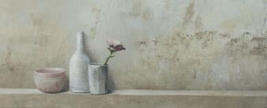 Bodegón con flor|Pinturademarta gomez de la serna| Compra arte en Flecha.es