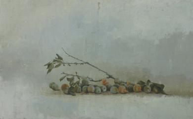 Ciruelas verdes|Pinturademarta gomez de la serna| Compra arte en Flecha.es