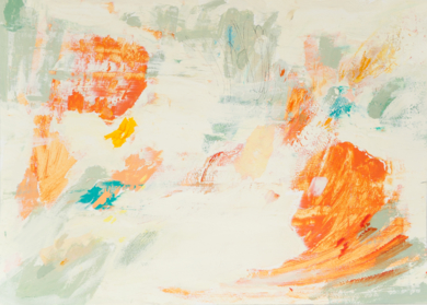 Abstracción naranja|PinturadeSusana Sancho| Compra arte en Flecha.es
