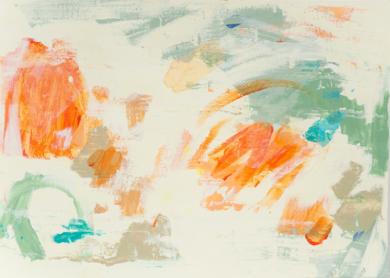 Abstracción naranja y verde II|PinturadeSusana Sancho| Compra arte en Flecha.es
