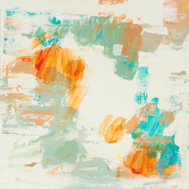 Abstracción naranja y verde III|PinturadeSusana Sancho| Compra arte en Flecha.es