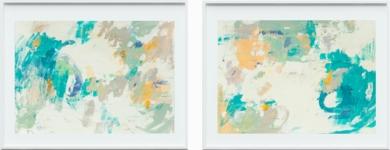 Díptico en verde|PinturadeSusana Sancho| Compra arte en Flecha.es