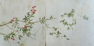 Rama con flor|Pinturademarta gomez de la serna| Compra arte en Flecha.es