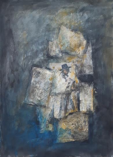 I am falling into dreams|CollagedeRobert van Bolderick| Compra arte en Flecha.es