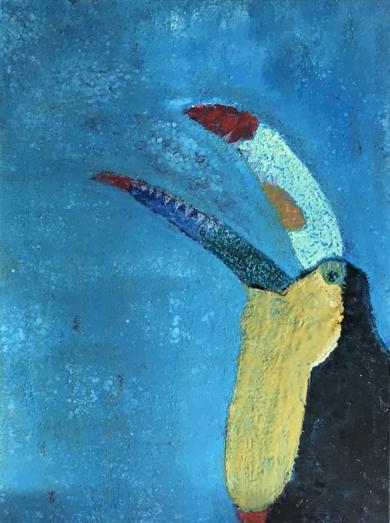 Tucán|PinturadeEnric Correa| Compra arte en Flecha.es