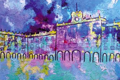 Plaza Mayor de Salamanca|PinturadeMaite Rodriguez| Compra arte en Flecha.es