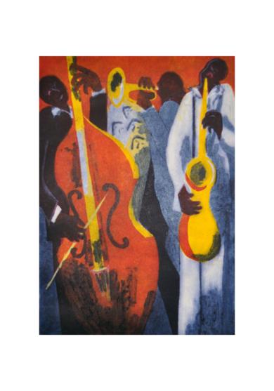 Jazz trío III|Obra gráficadeJenifer Carey| Compra arte en Flecha.es