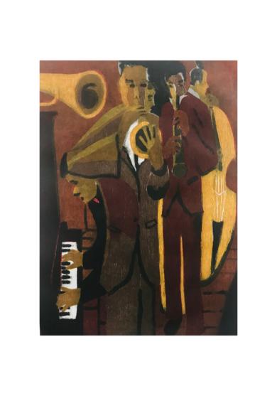 Jazz quinteto I.|Obra gráficadeJenifer Carey| Compra arte en Flecha.es