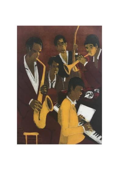 Jazz quinteto III|Obra gráficadeJenifer Carey| Compra arte en Flecha.es