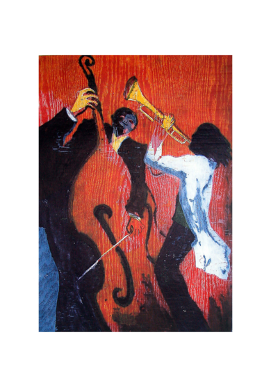 Jazz dueto II|Obra gráficadeJenifer Carey| Compra arte en Flecha.es