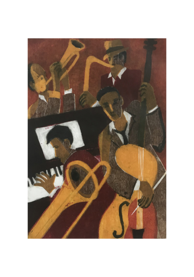 Jazz cuarteto III|Obra gráficadeJenifer Carey| Compra arte en Flecha.es