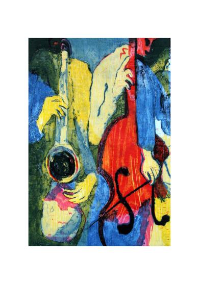 Jazz dueto I|Obra gráficadeJenifer Carey| Compra arte en Flecha.es