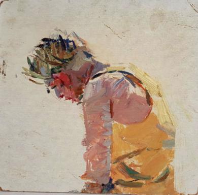 Man sitting|PinturadeShponko Gregori Andreevich| Compra arte en Flecha.es