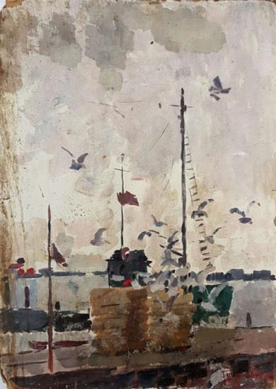 Schooner|PinturadeShponko Gregori Andreevich| Compra arte en Flecha.es