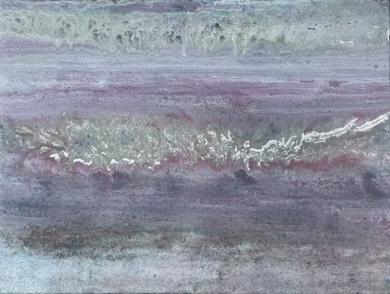 Composición gris morada|PinturadeEnric Correa| Compra arte en Flecha.es