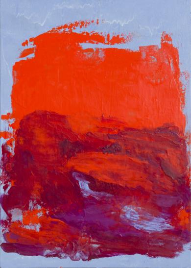 Naranja y azul|PinturadeIgnacio Mateos| Compra arte en Flecha.es