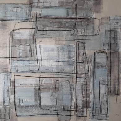 Composición XV|PinturadeMay Pérez| Compra arte en Flecha.es