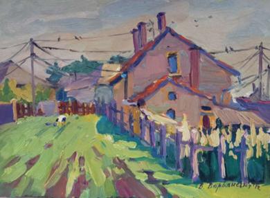 In the Yard|PinturadeVarvyanskaya Vera| Compra arte en Flecha.es
