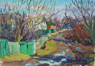 Spring Street|PinturadeVarvyanskaya Vera| Compra arte en Flecha.es