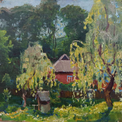 Landscape with willows|PinturadeGerasimenko Stepan Mikhailovich| Compra arte en Flecha.es