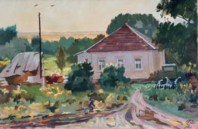 House in Petrovka|PinturadeSimakov Ernest Iosifovich Moldovian| Compra arte en Flecha.es