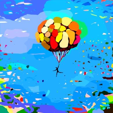 El Globo del Parque del Buen Retiro|Obra gráficadeALEJOS| Compra arte en Flecha.es