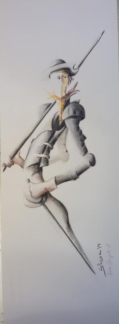 Quijote 11|DibujodeBarbaC| Compra arte en Flecha.es