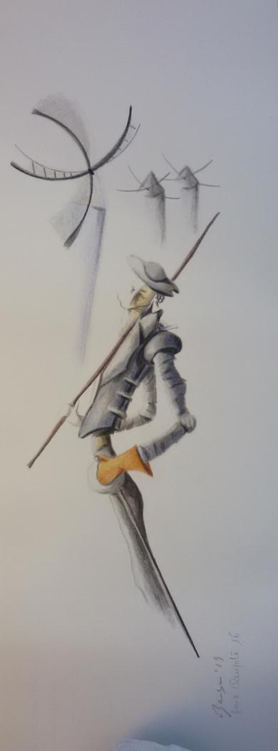 Quijote 16|DibujodeBarbaC| Compra arte en Flecha.es