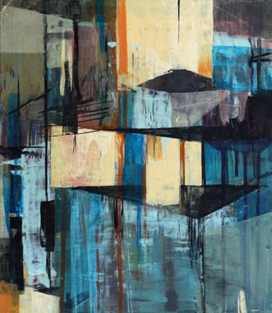El Pueblo|PinturadeJENNY FERMOR| Compra arte en Flecha.es
