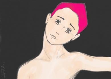 Pelo rosa|DigitaldeLola Barcia Albacar| Compra arte en Flecha.es