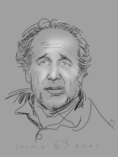 Retrato de JPAdM|DibujodeAlberto Ballarín| Compra arte en Flecha.es
