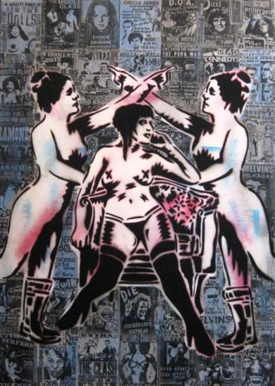 Dry Blood I (Groupies)|PinturadeCarlos Madriz| Compra arte en Flecha.es
