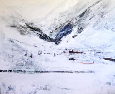 Estacion de esquí|PinturadeCarmen Montero| Compra arte en Flecha.es