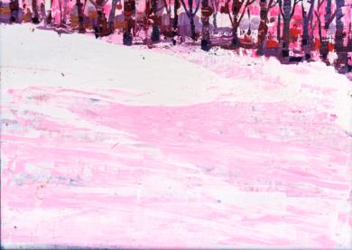 Nieve rosa|PinturadeCarmen Montero| Compra arte en Flecha.es