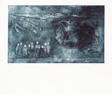 Dicen que por aquí pasan los Reyes Magos|Obra gráficadeAna Valenciano| Compra arte en Flecha.es