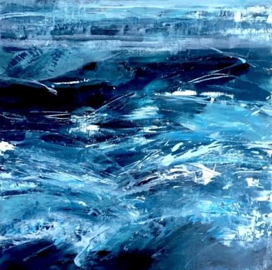 Mar Agitado|PinturadeErika Nolte| Compra arte en Flecha.es