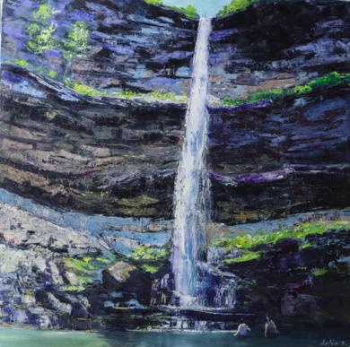 Kaaterskill Falls|PinturadeDelio Sánchez| Compra arte en Flecha.es