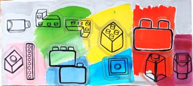 Lego World|DibujodeLisa| Compra arte en Flecha.es
