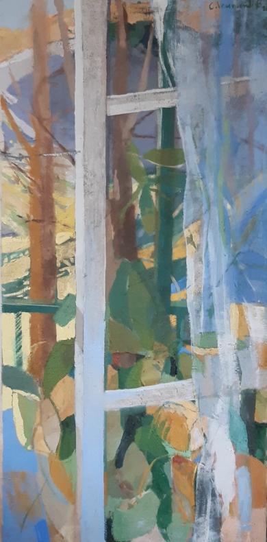 Ventana con cortina|PinturadeCarolina Veramendi B| Compra arte en Flecha.es