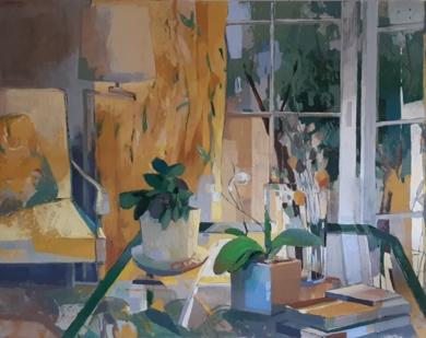 Mesa verde|PinturadeCarolina Veramendi B| Compra arte en Flecha.es
