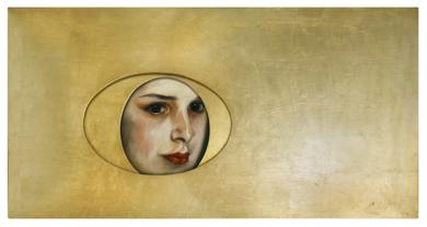La meditación de Alice|PinturadeEnrique González| Compra arte en Flecha.es